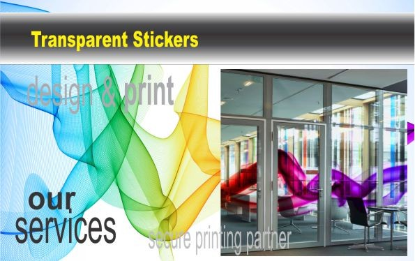 Clear window stickers can also be printed in reverse