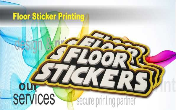 With our floor stickers printing service, enjoy scratch, scuff, and slip-resistant vinyl graphics