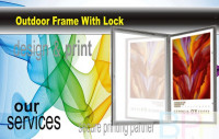 Outdoor Poster Frame With Lock
