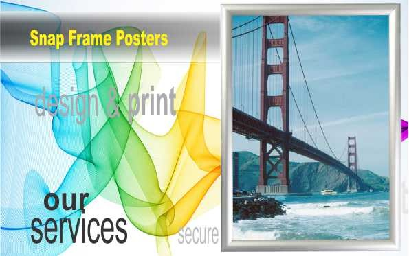 Snap Frame Double Sided pavement signs that enable you to snap posters into the frames as required