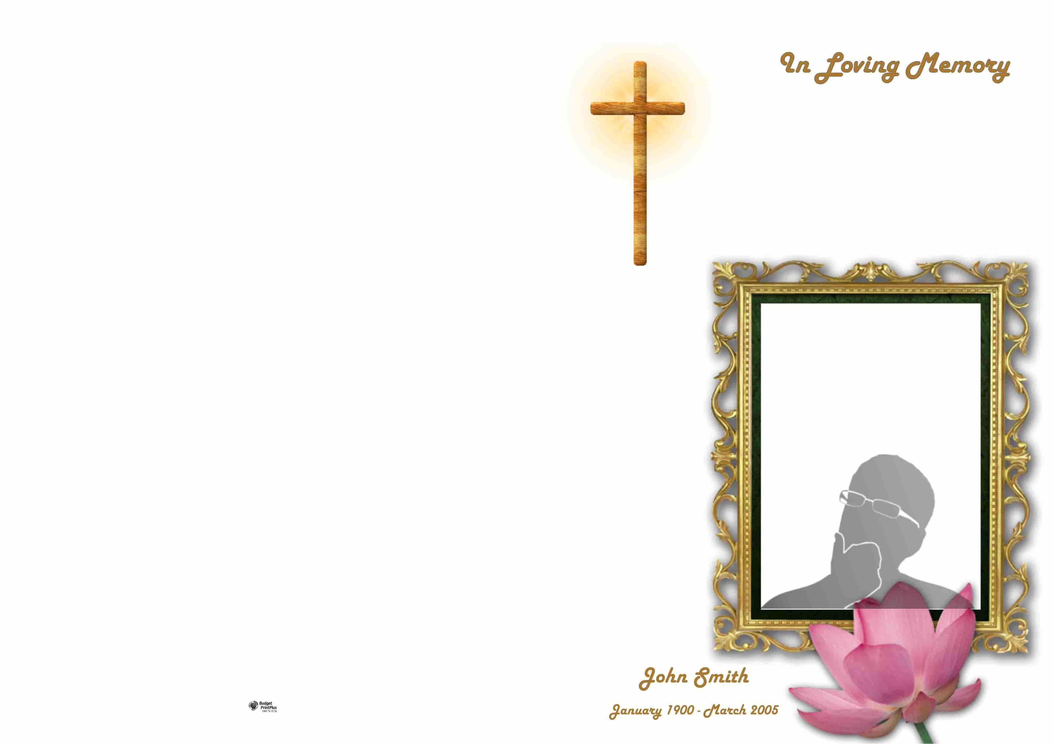 Order Of Service Booklet, Hymn Book, Funeral Program 327