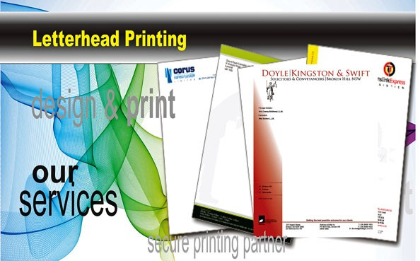 Letterheads portray your business in a professional light