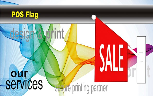 Custom branded Point Of Sale Flags