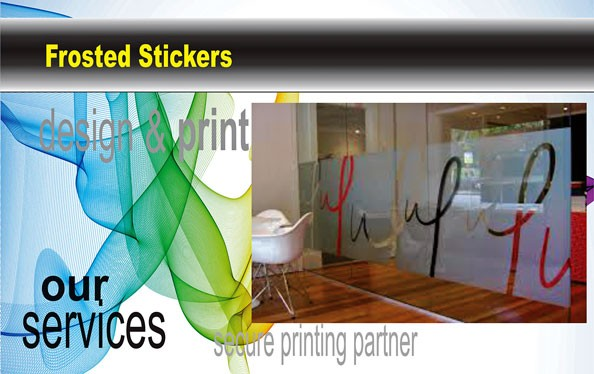 Frosted Stickers|Custom Sticker|Budget Print Plus - 1