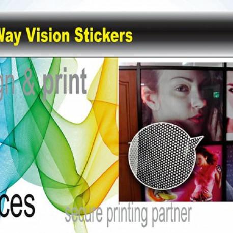 One Way Vision Sticker