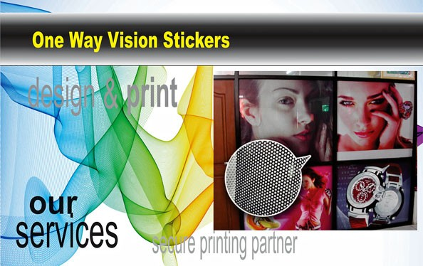 One Way Vision Sticker|One Way Glass|Budget Print Plus - 1