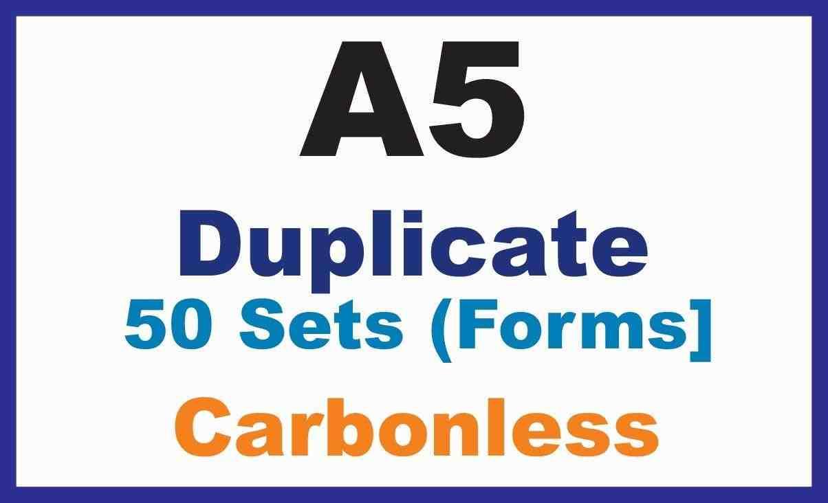 Invoice Books|Duplicate A5 - 1