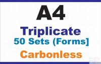 Invoice Book|Triplicate A4