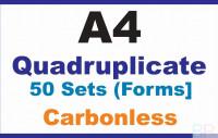 Invoice Books|Quadruplicate A4