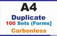 Tax Invoice|Duplicate A4|100 Sets