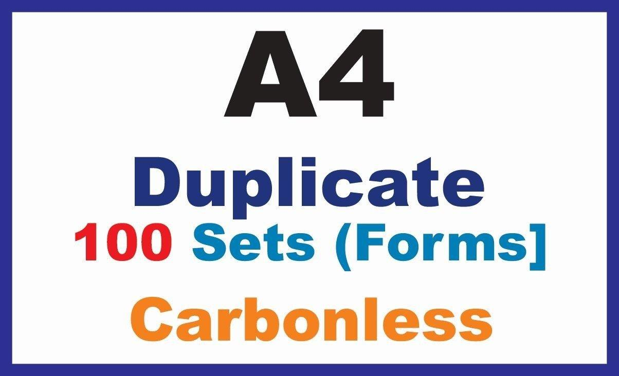 Tax Invoice|Duplicate A4|100 Sets - 1