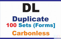 Invoice Books|Duplicate DL|100 Sets high-quality customised invoice books with company logo