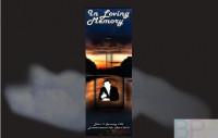 Memorial Bookmarks Funeral Bookmarks BPP61016