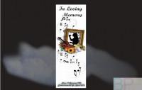 Memorial Bookmarks Funeral Bookmarks BPP61018