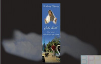 Memorial Bookmarks|Funeral Bookmarks|Jesus looking down on middle aged man & dog walking awy from Perth Bell Tower