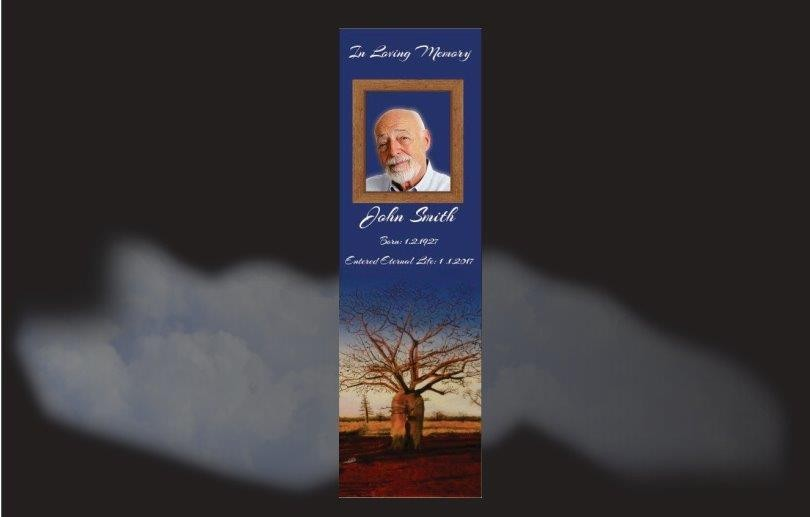 Memorial Bookmarks|Funeral Bookmarks|Boab tree in desert setting