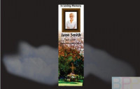 Memorial Bookmarks|Funeral Bookmarks|Gazebo with cross in a park setting