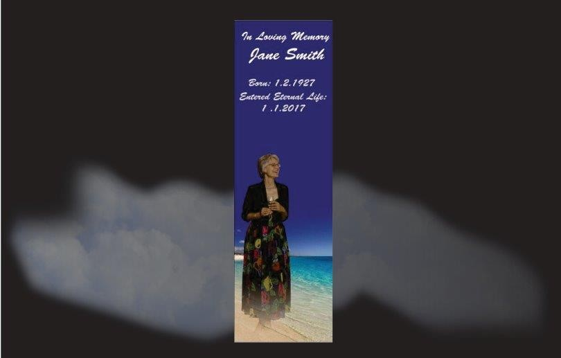 Memorial Bookmarks|Funeral Bookmarks Nonna at the beach