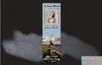 Memorial Bookmarks|Funeral Bookmarks| loved one sitting on rock ledge over looking the scenery