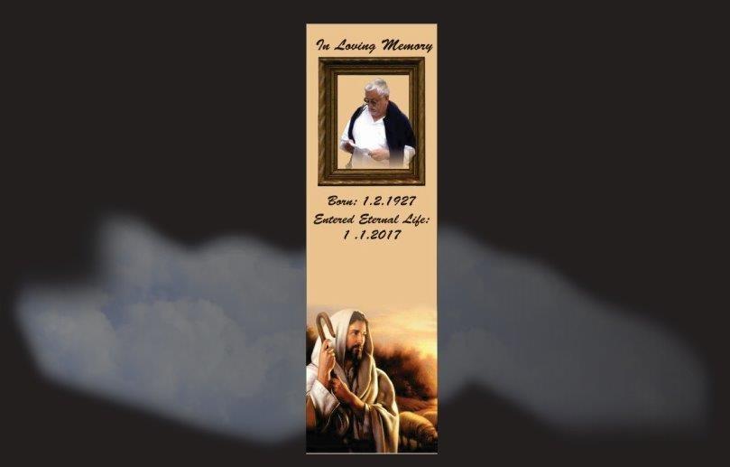 Memorial Bookmarks Funeral Bookmarks Jesus watching over his flock