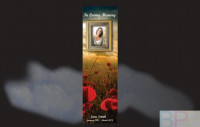Memorial Bookmarks|Funeral Bookmarks|Poppies in the foreground with hues  of the setting sun