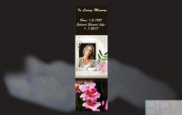 Memorial Bookmarks|Funeral Bookmarks|Orchids in the foreground