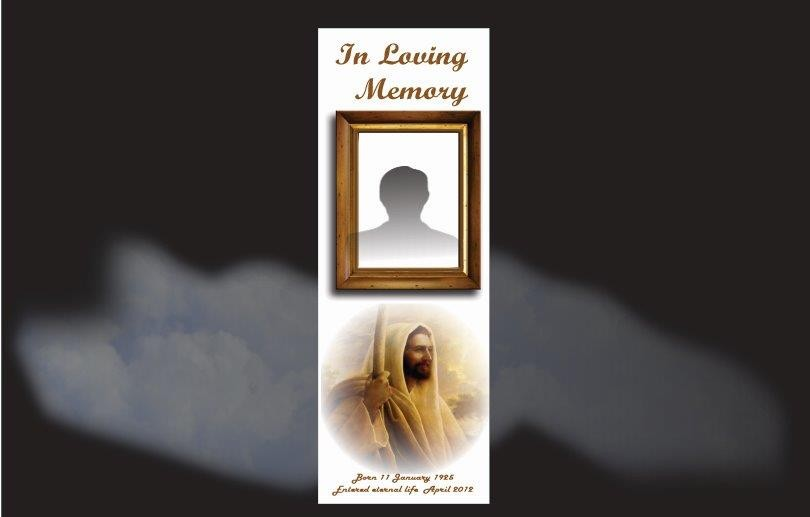Memorial Bookmarks|Funeral Bookmarks|Image of our Lord the Shepard