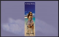 Funeral Book Marks, Memorial Bookmarks, young woman on the beach walking away looking back
