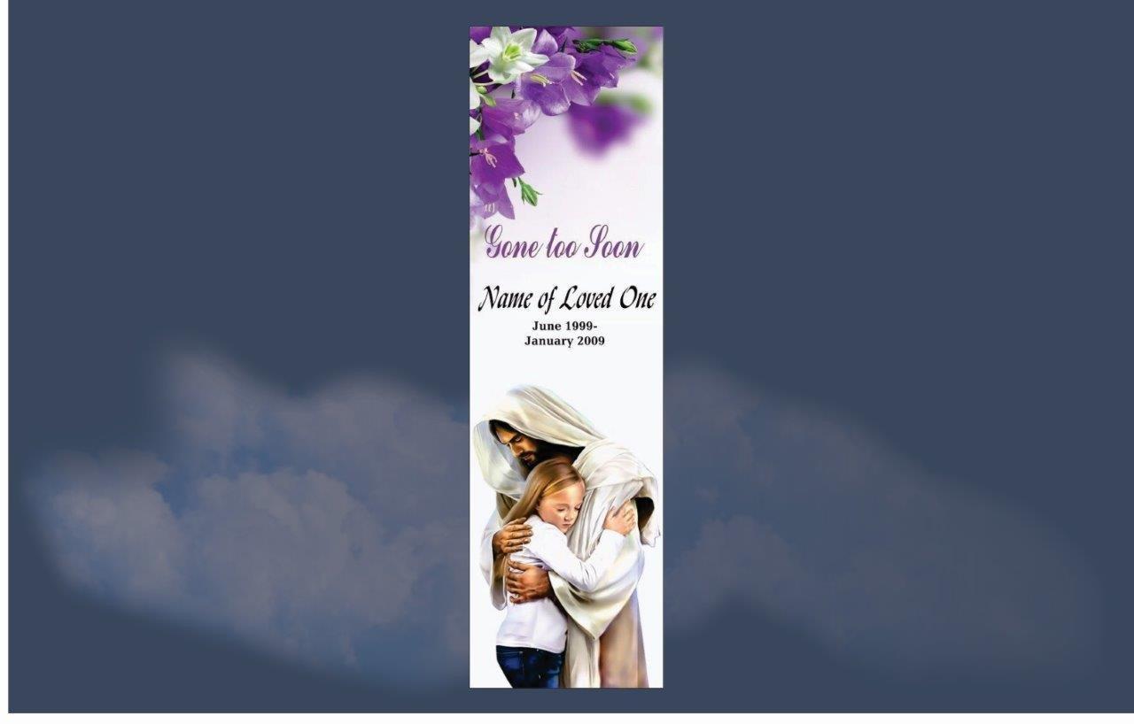 Memorial Bookmarks|Funeral Bookmarks|  BPP6107