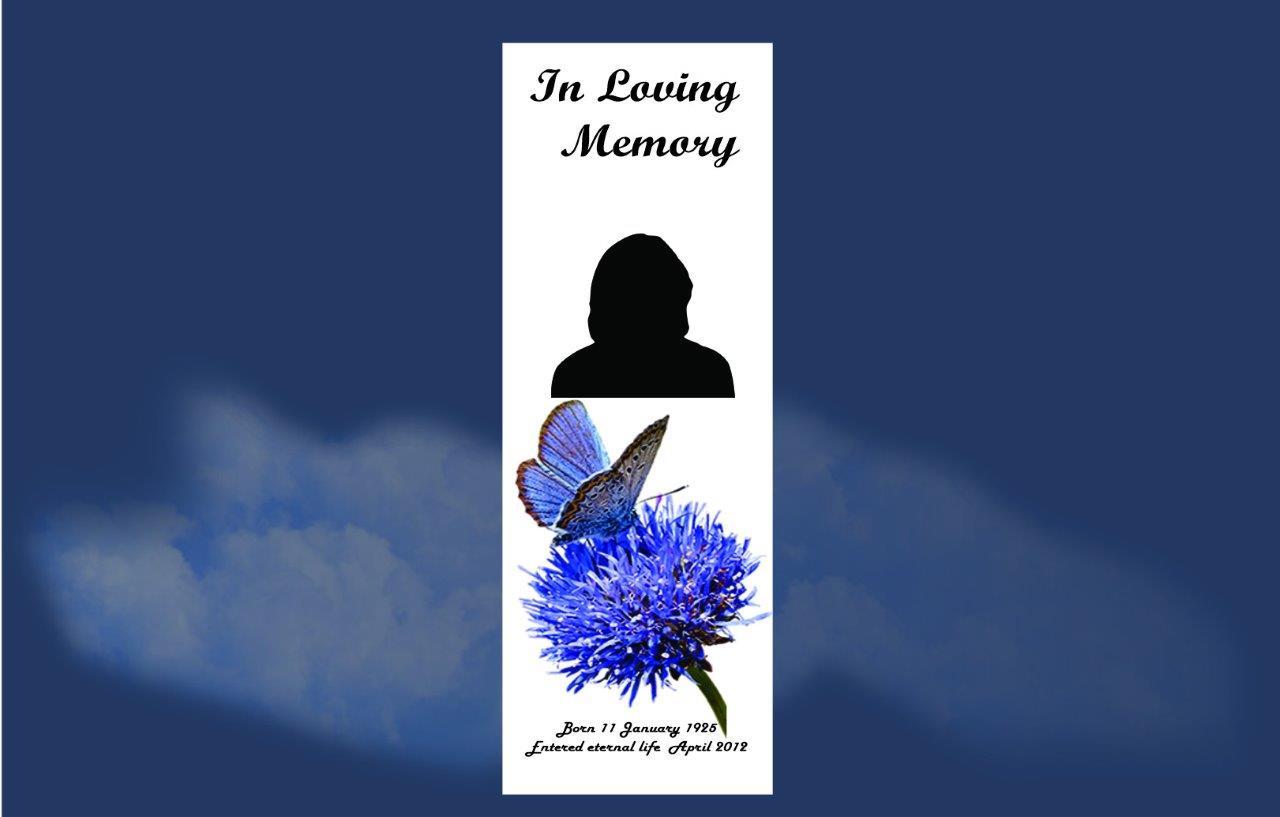 Memorial Bookmarks |Funeral Bookmarks|Budget Print Plus - 1
