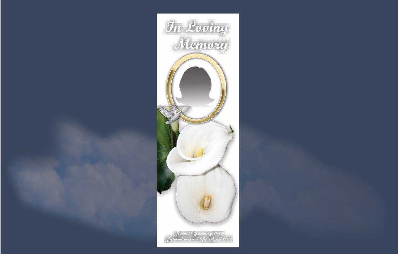 Memorial Bookmarks  Funeral Bookmarks Budget Print Plus - 1