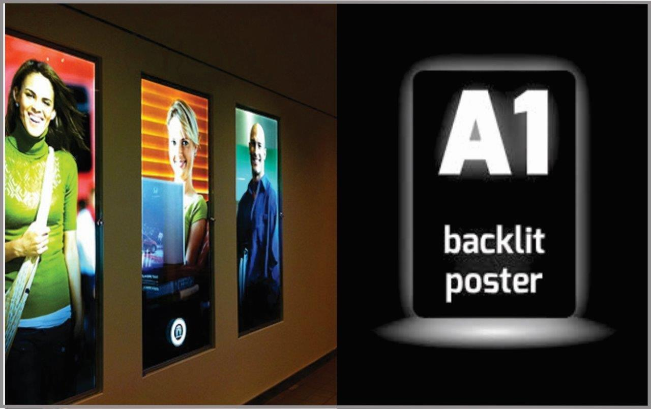 Backlit posters fit inside a lightbox displays to illuminate your graphics from behind