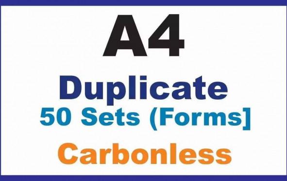 Invoice Books, |Duplicate A4