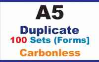 Invoice Books   Duplicate A5 100 Sets