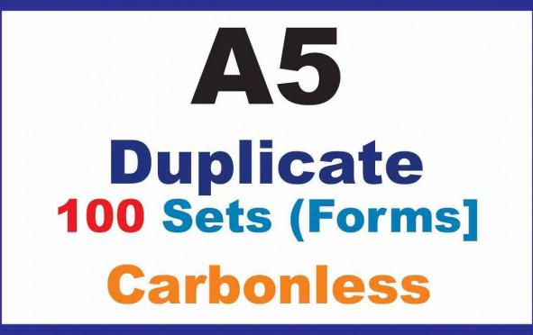 Invoice Book, |Duplicate A5 | 100 Sets