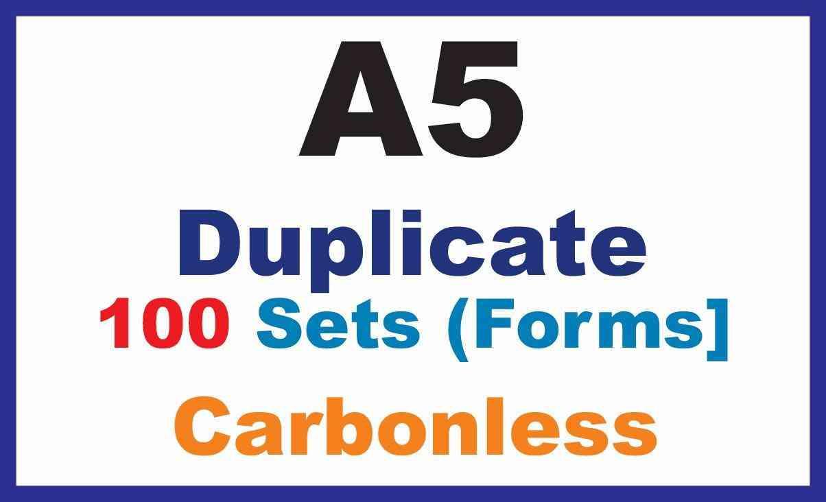 Invoice Books | Duplicate A5 100 Sets