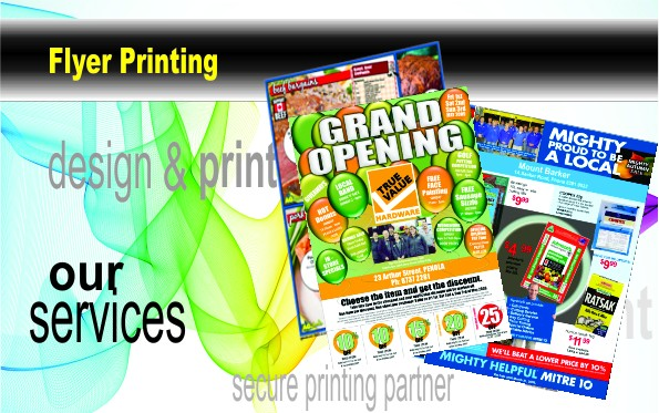 Flyers, are one of the most cost effective way to promote your products and services