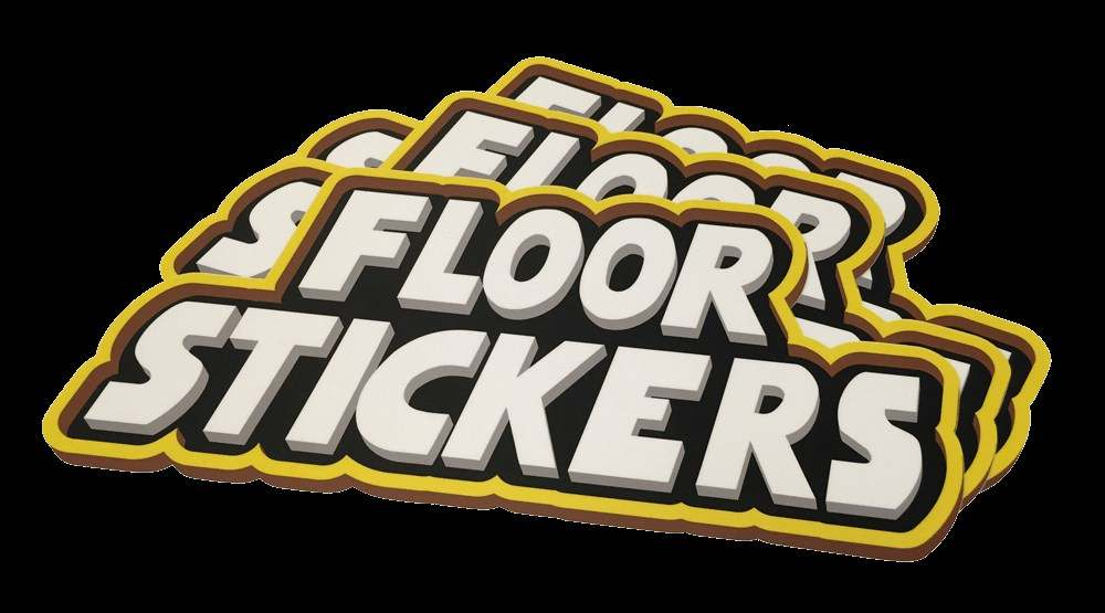 Floor sticker floor decals budget print plus for Floor stickers